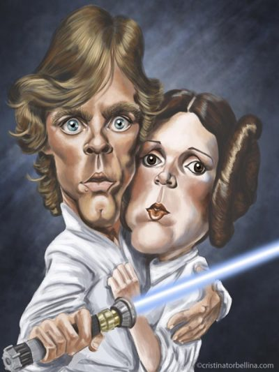 Luke Skywalker y Leia